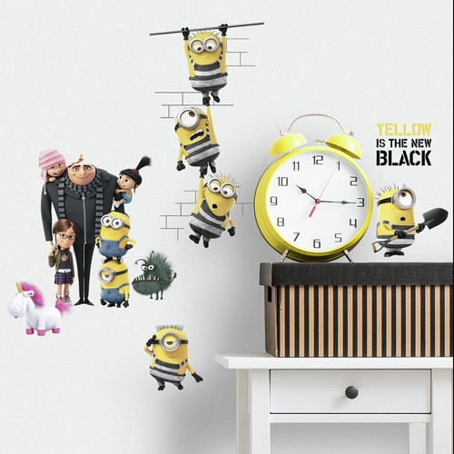 RoomMates 5 in. x 11.5 in. Despicable Me 3 17-Piece Peel and Stick Wall Decals