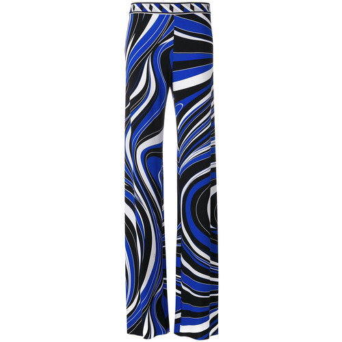 EMILIO PUCCI Abstract Print High-Waisted Trousers