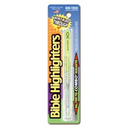 Divinity Boutique 96383 Highlighter Ball Point Pen, Single Pack - Yellow (ANCRD83831)