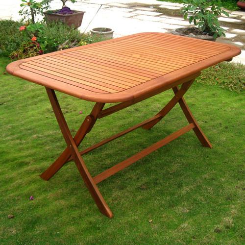 Royal Tahiti Rectangular Outdoor Folding Table - 60