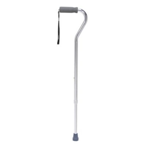 Drive Medical Foam Grip Offset Handle Walking Cane, Silver