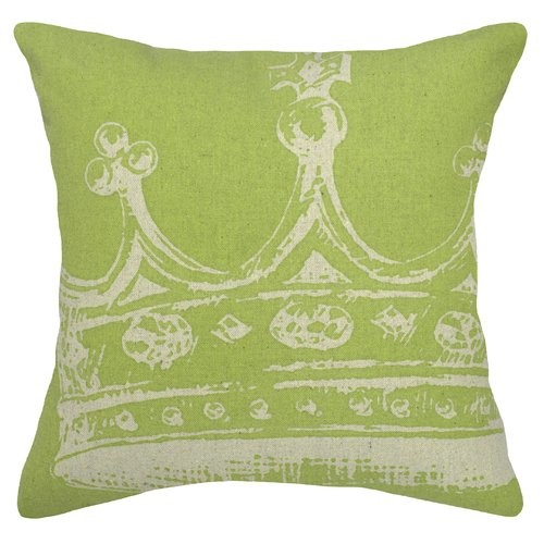 123 Creations Modern Crown Linen Throw Pillow