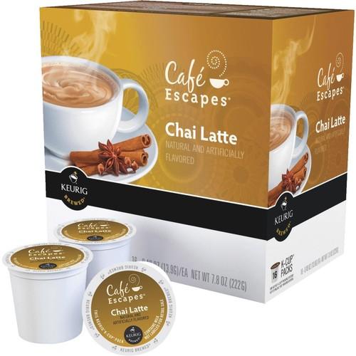 Keurig Cafe Escapes Chai Latte Tea K-Cup - 120194