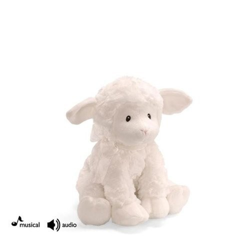 Baby GUND Lena Lamb Brahms' Lullaby Musical Stuffed Animal Plush, White, 10