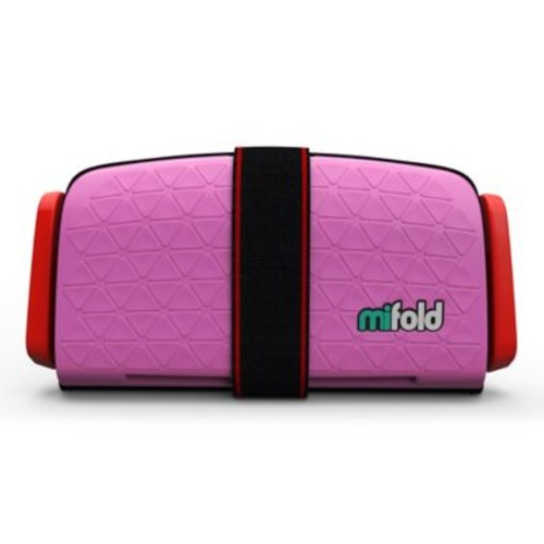 mifold Grab-n-Go Booster Car Seat in Pink