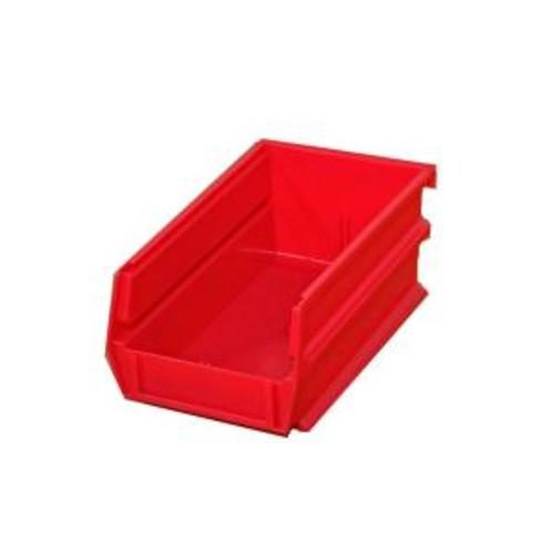 Triton Products LocBin .301-Gal. Stacking, Hanging, Interlocking Polypropylene Storage Bins in Red (24-Pack)