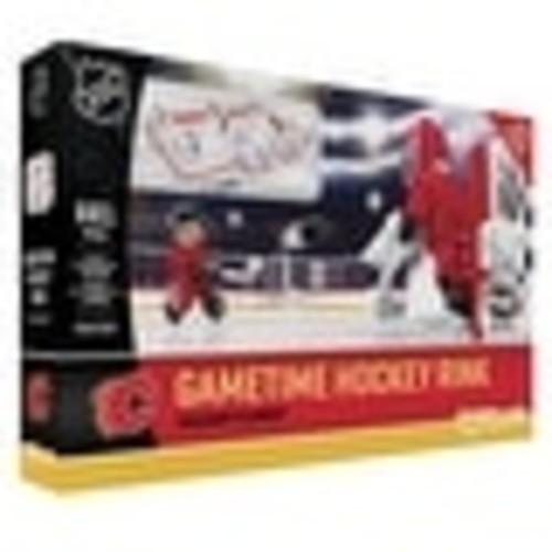 Calgary Flames OYO Sports Mini Figure NHL Full Hockey Rink Set - Multi