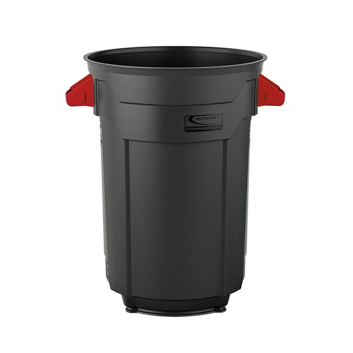 Suncast Commercial Utility Trash Can, 32 Gallon [Gray, 32 Gallon]