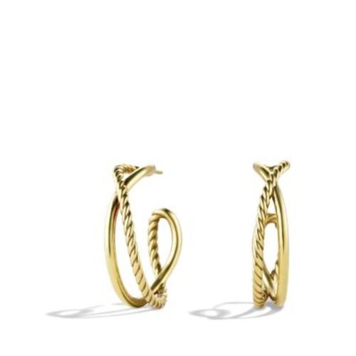 Crossover Hoop Earrings in G