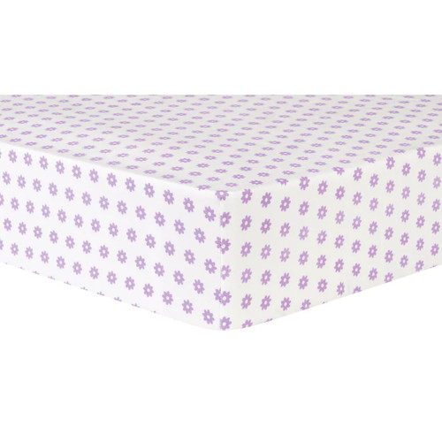 Trend Lab Flower Dot Deluxe Flannel Fitted Crib Sheet
