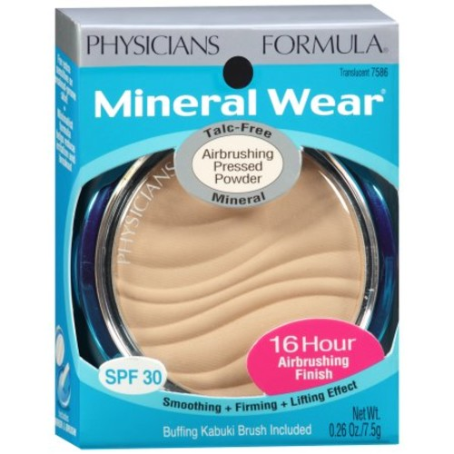 Physicians Formula Mineral Wear Talc-Free Mineral Makeup Airbrushing Pressed Powder SPF 30 - Translucent