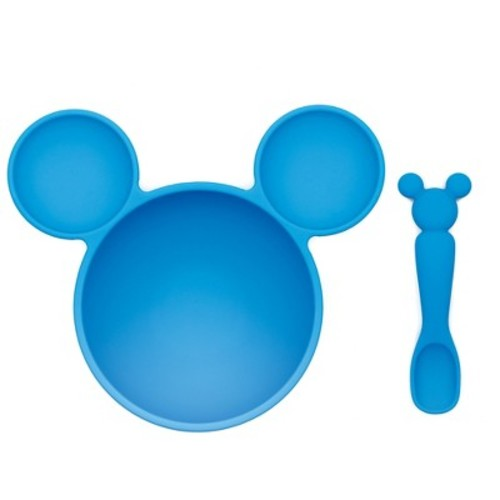 Bumkins Disney Mickey Mouse First Feeding Set - Blue