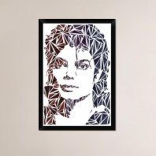 Naxart 'Michael Jackson' Framed Graphic Art Print on Canvas; 32'' H x 22'' W x 1.5'' D