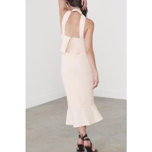 Flounce Hem Midi Dress