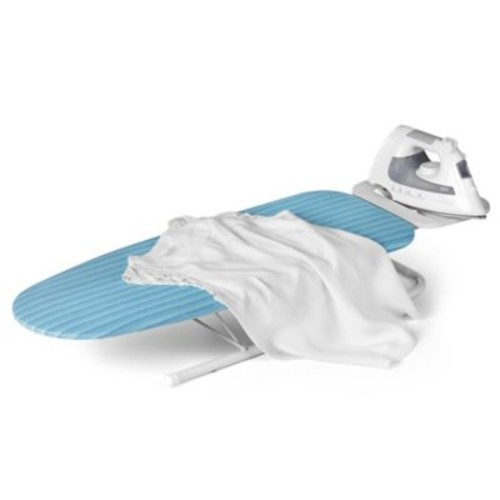 Honey-Can-Do Deluxe Tabletop Ironing Board with Iron Rest in White/Blue