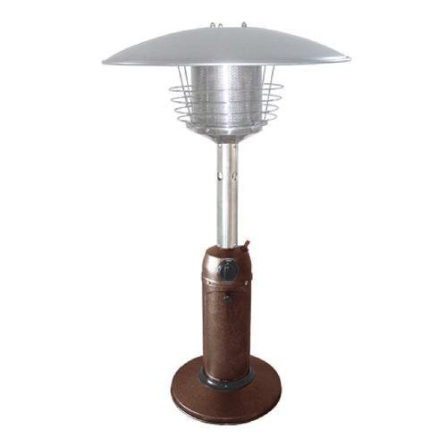 AZ Patio Heaters HLDS032-CG Portable Table Top Stainless Steel Patio Heater, Bronze Gold Hammered Finish [Hammered Bronze powder coated finish]