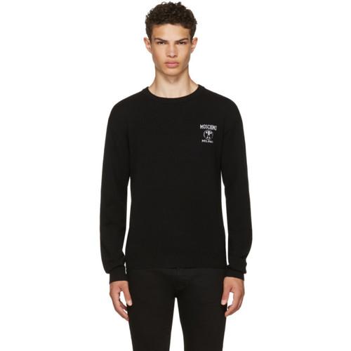 MOSCHINO Black Logo Sweater