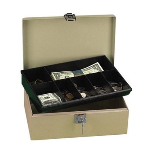 PM Securit Lock N' Latch Steel Cash Box - 2 Bill - 5 Coin - Steel, Plastic - 4