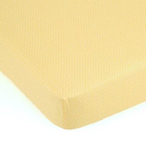 Balboa Baby Polka Dot Fitted Crib Sheet in Grey/White