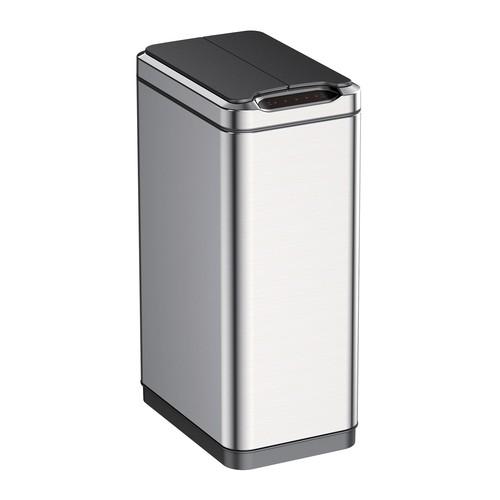 EKO 50L Phantom Sensor Trash Can, Stainless steel
