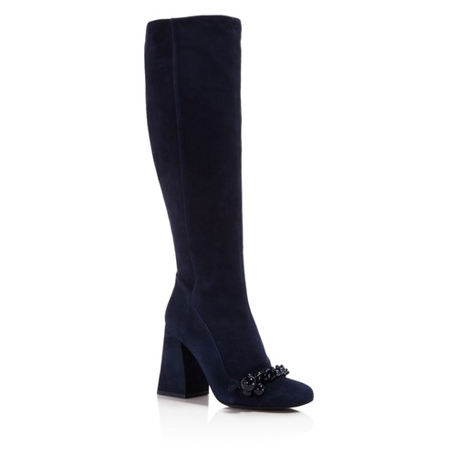 TORY BURCH Women'S Addison Suede Square Toe Knee Boots