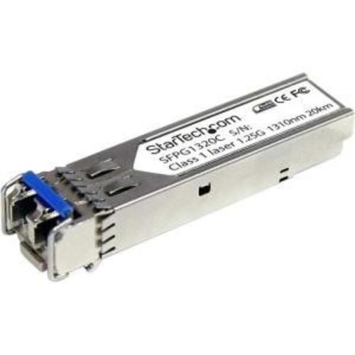 StarTech.com 1.25 Gbps Gigabit 1310nm GBIC SM LC Fiber SFP Transceiver w/ DDM - 20km