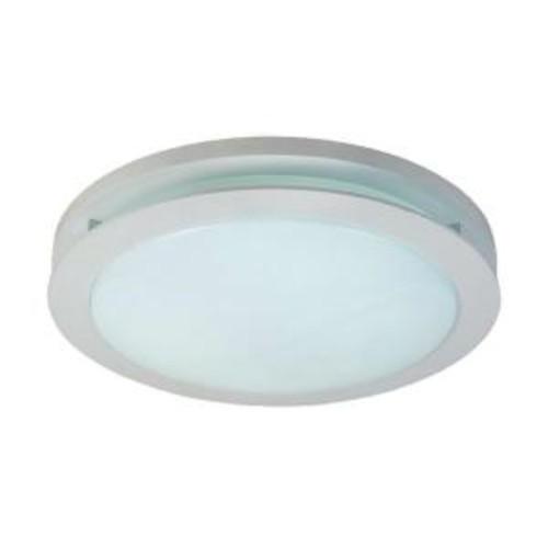Hampton Bay 2-Light White Fluorescent Round Deco Ceiling Flushmount