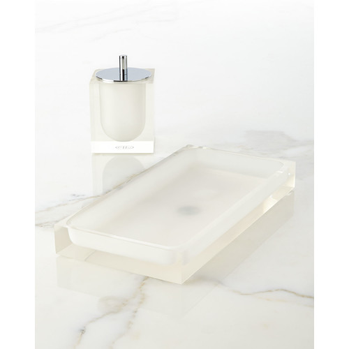 White Hollywood Bath Tray