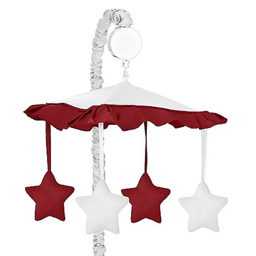Sweet Jojo Designs Hotel Musical Mobile in White/Red