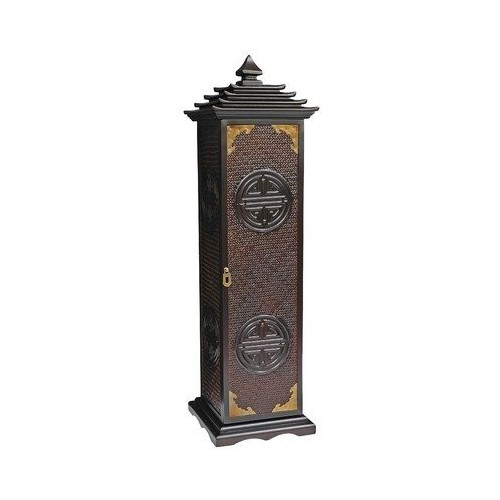 Oriental Furniture Rosewood Pagoda CD/DVD Stand
