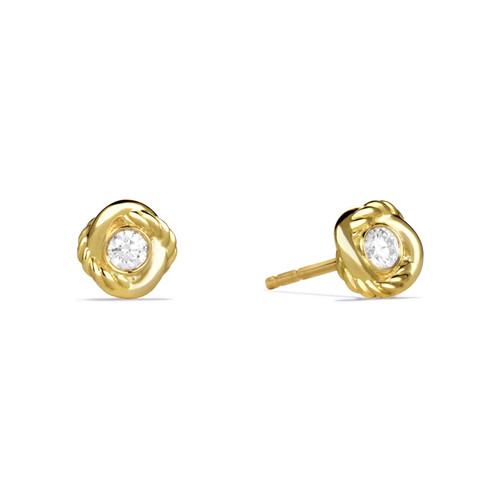 Infinity Earrings with Diamonds