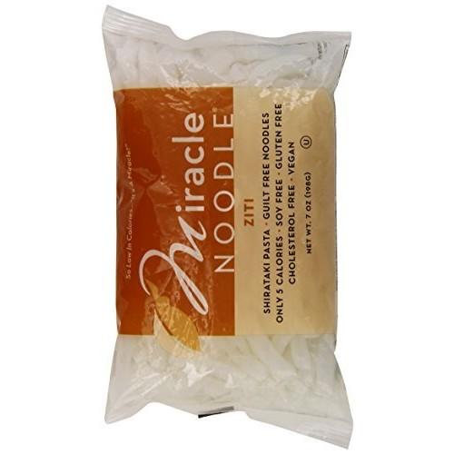 Miracle Noodle Shirataki Pasta Ziti, 7 Ounces - Pack of 3