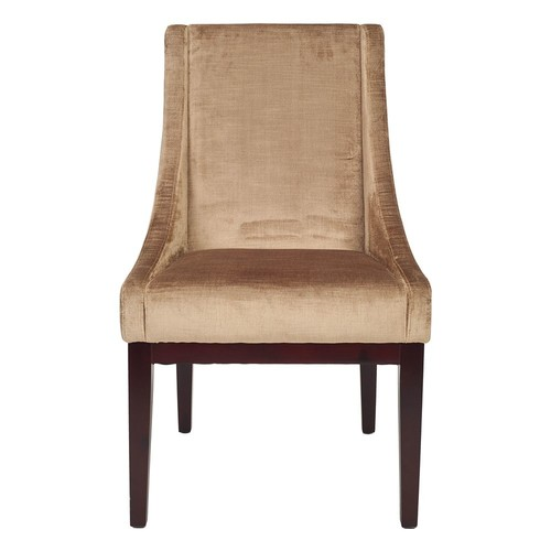 Safavieh MCR4500D Velvet Sloping Arm Chair