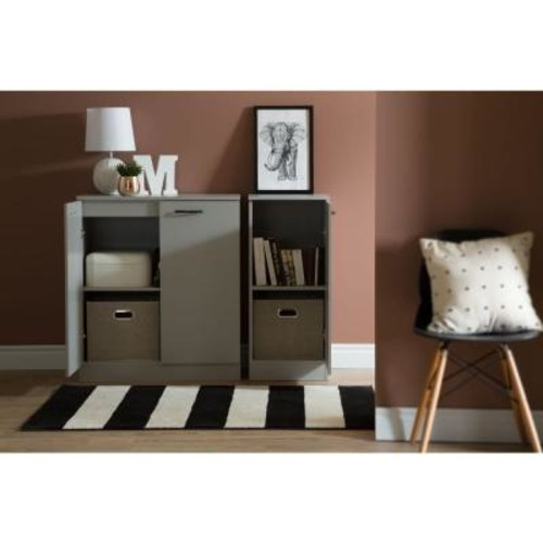 South Shore Axess Soft Gray Storage Cabinet
