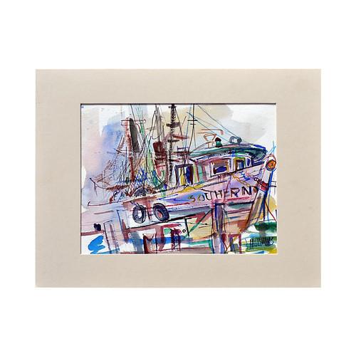 Fishing Boat by Virginia Hughins
