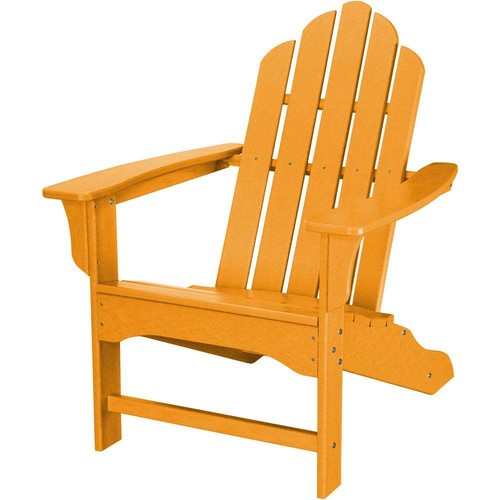 Hanover All-Weather Patio Adirondack Chair in Tangerine Orange