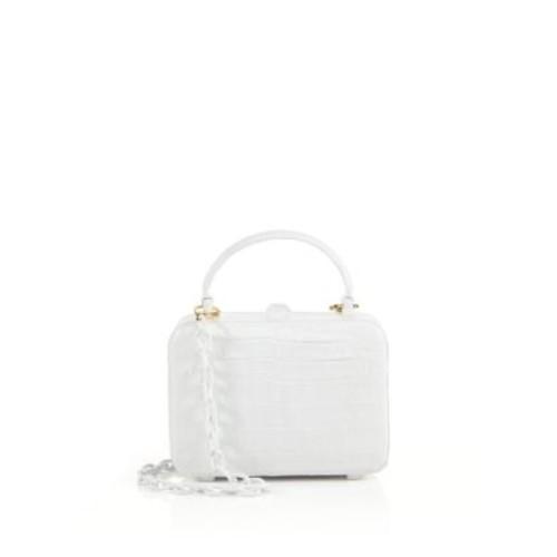 NANCY GONZALEZ Crocodile Box Top-Handle Bag