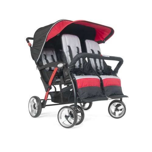 Foundations Quad Sport 4-Passenger Stroller, Red