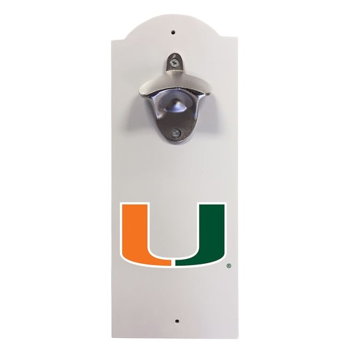 Miami Hurricanes Wall-Mounted Bottle Opener