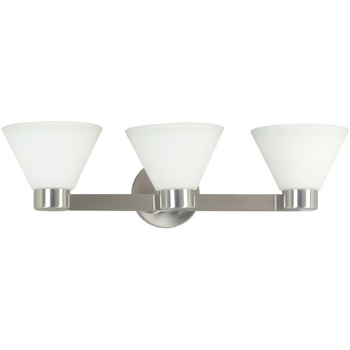 Kenroy Home 91793BS Maxwell 3 Light Vanity, Brushed Steel Finish [3 light vanity]