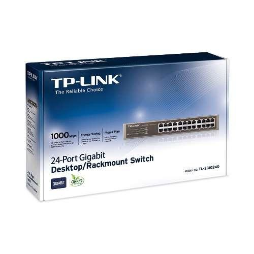 TP-Link 24-Port Gigabit Ethernet Unmanaged Switch | Plug and Play | Desktop/Rackmount | Fanless | Limited Lifetime (TL-SG1024D)