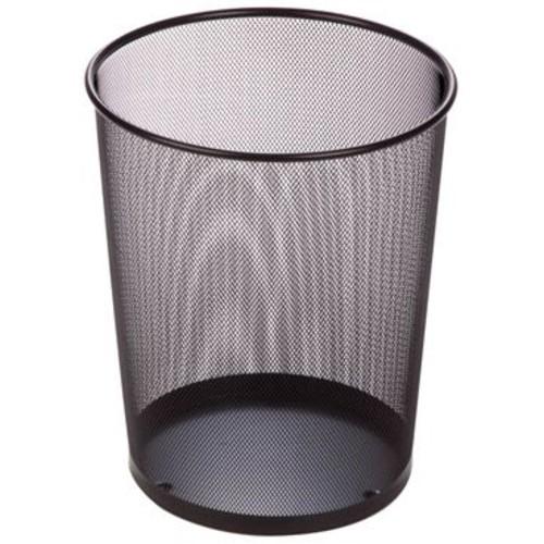 Honey Can Do Steel Mesh Waste Basket, Black, 4.75 Gallon, 2/Pack