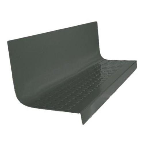 ROPPE Vantage Circular Profile Black Brown 20.4 in. x 72 in. Rubber Square Nose Stair Tread