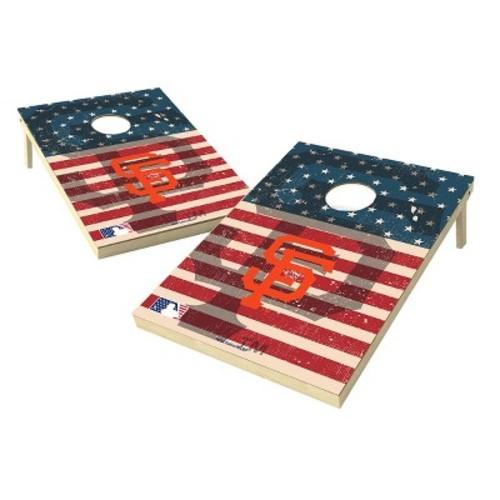 MLB Wild Sports Worn Shadow Stars and Stripes 2x3 ft. Cornhole Bean Bag Toss Set
