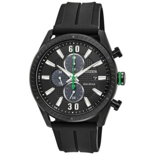 Citizen Drive Men's 42.5mm Chronograph Watch in Black Ion-Plated Stainless Steel with Black Strap