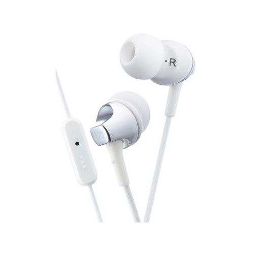 JVC HAFR325W WHITE In-Ear Headphones w/Remote and Microphone Original