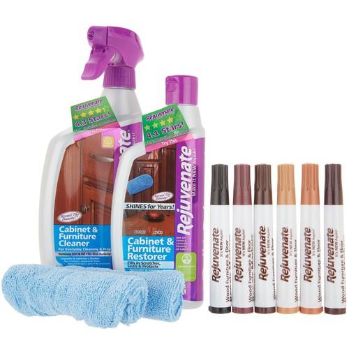 Rejuvenate Cabinet Cleaner \u0026 Restorer Kit w/ Wood Repair Color Markers