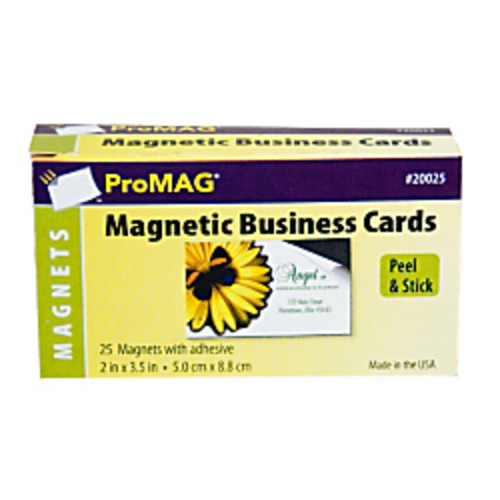 ProMAG Adhesive Business Card Magnets, Pack Of 25