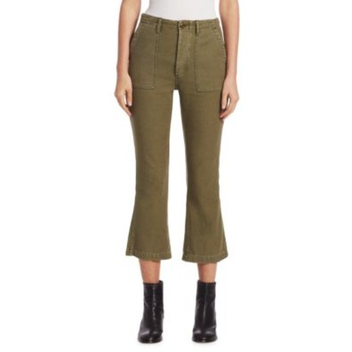 Utility Cotton Cropped Pants