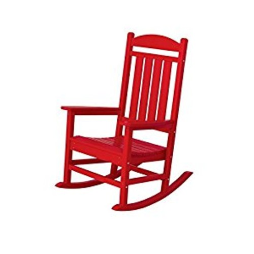 POLYWOOD R100SR Presidential Rocker, Sunset Red [red]